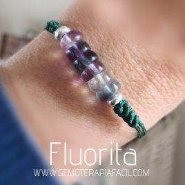 pulsera de fluorita natural gemoterapia facil