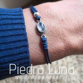 pulsera de piedra luna natural plata de ley gemoterapia facil