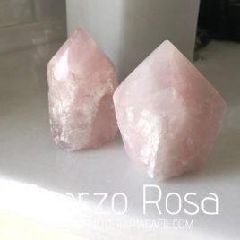 puntas de cuarzo rosa naturales gemoterapia facil