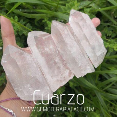 puntas naturales de cuarzo cristal de roca gemoterapia facil