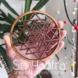 Sri Yantra rejilla tapete para minerales gemoterapia facil