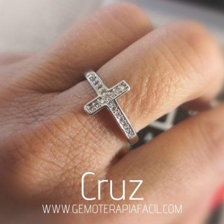 anillo Cruz circonitas gemoterapia facil
