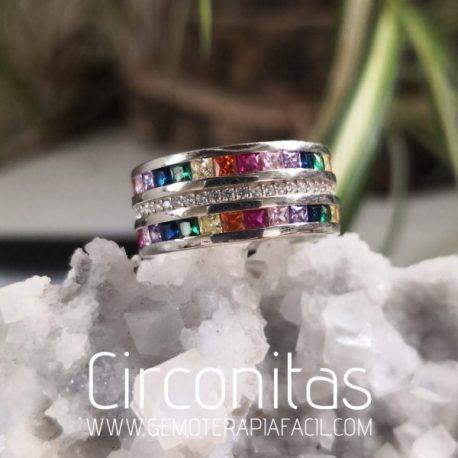 anillo de circonitas plata de ley gemoterapia facil