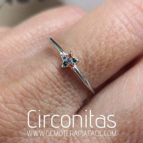 anillo estrella de circonitas gemoterapia facil