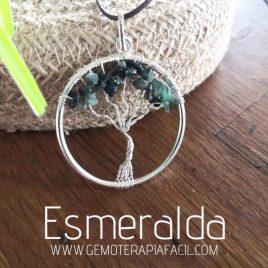 colgante Árbol de la Vida Esmeralda gemoterapia facil
