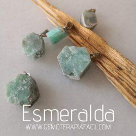 colgante Esmeralda en bruto gemoterapia facil
