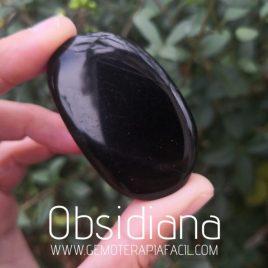 obsidiana negra rodado plano