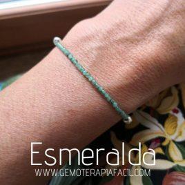 pulsera Esmeralda natural gemoterapia facil