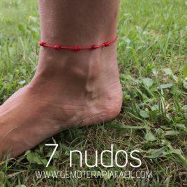 tobillera 7 nudos hilo rojo